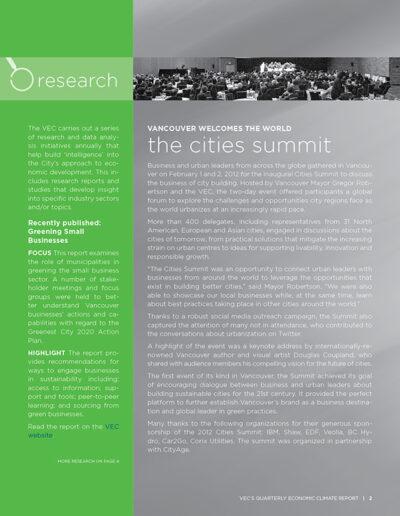 Vancouver Economic Commission Newsletter Design 2