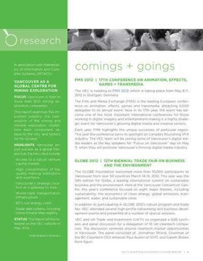 Vancouver Economic Commission Newsletter Design 4