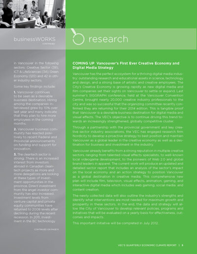Vancouver Economic Commission Newsletter Design 5