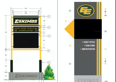 Signage: Edmonton Eskimos