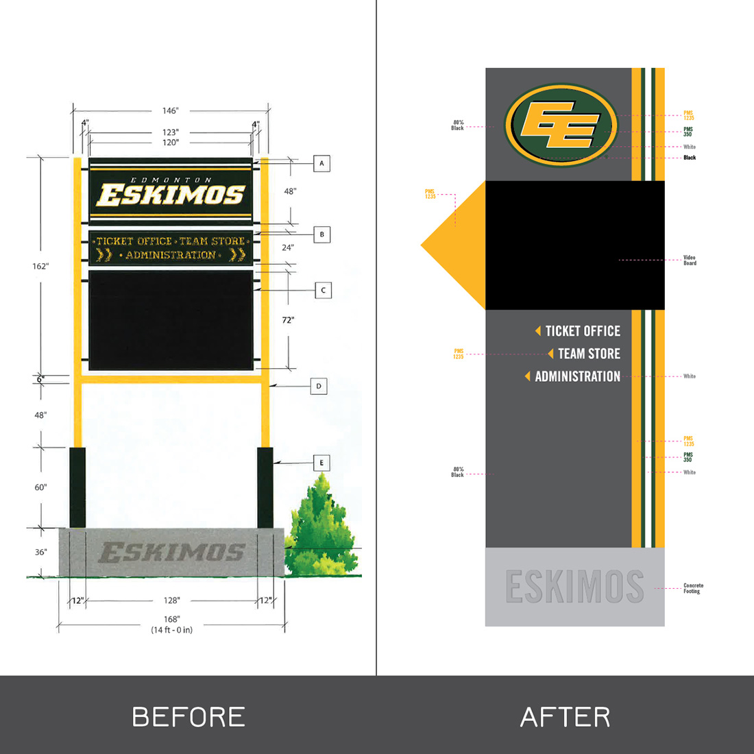 Edmonton Football Team Store Signage