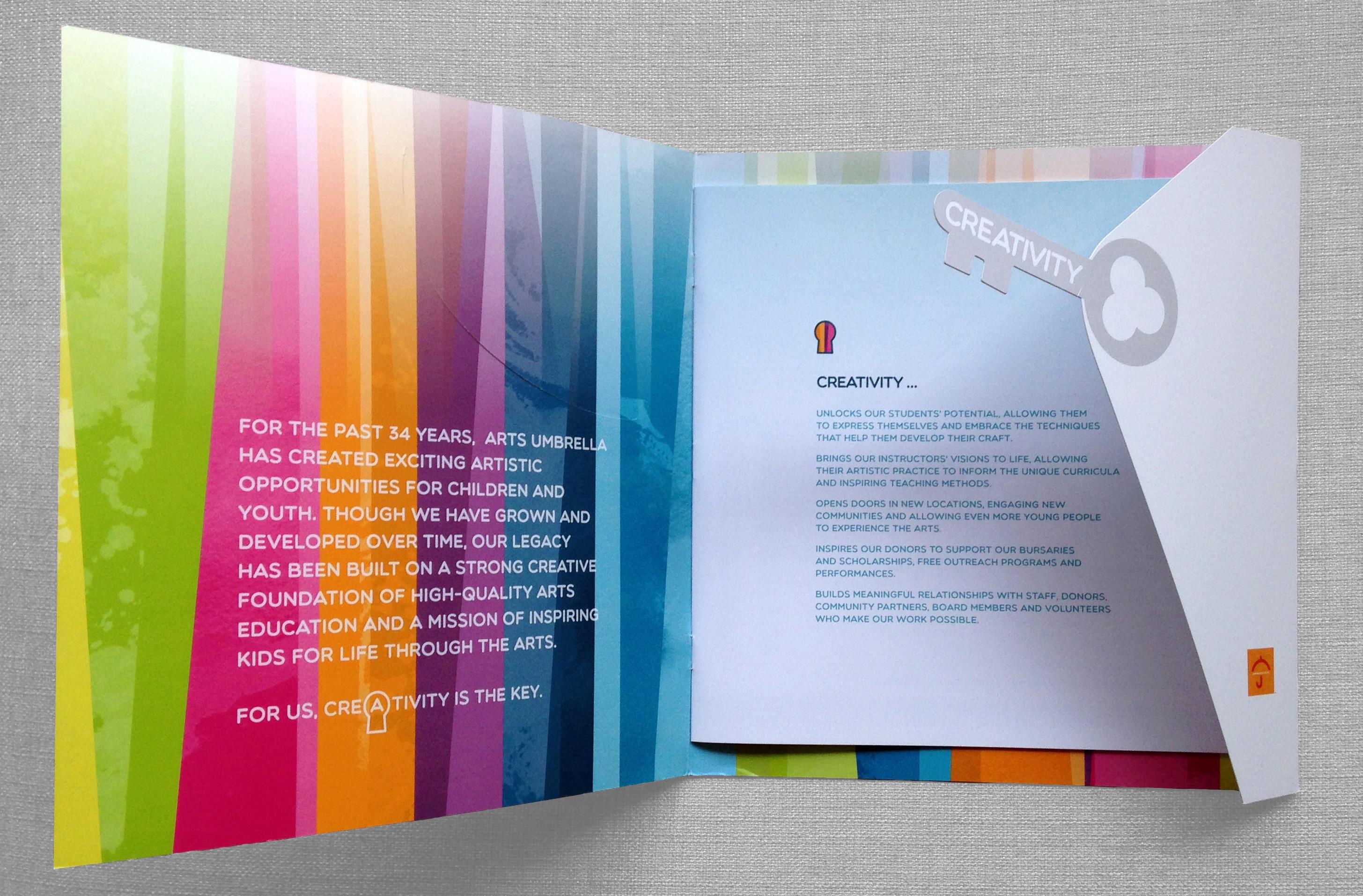 Arts Umbrella Annual Report Design 3