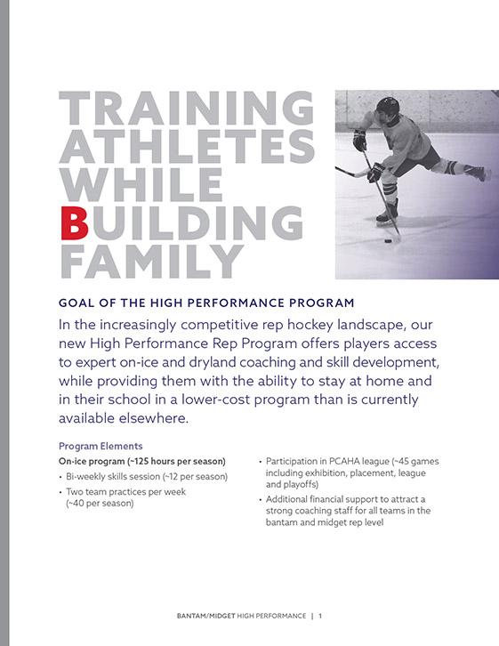 VancouverThunderbirdsHockeyClub BrochureDesign 2