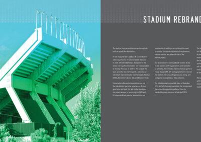 Commonwealth Stadium Rebrand Book Design 2