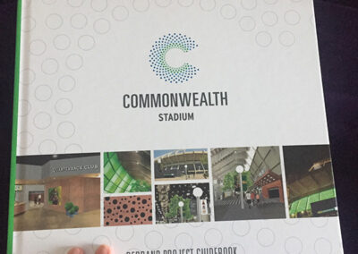 Commonwealth Stadium Rebrand Book Design cover