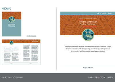 Conference Design Brand Identity wolf cedar 6