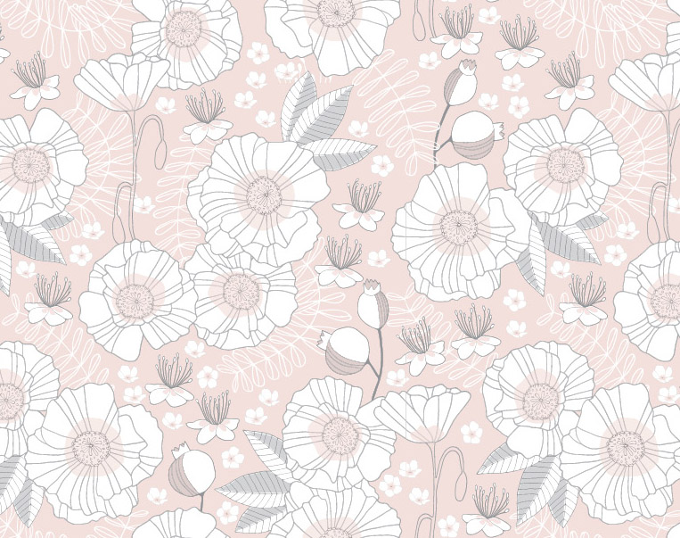 Pattern: Poppies + Rosehips