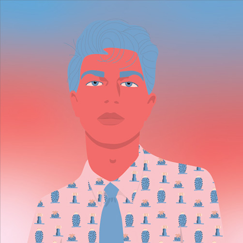Vector-Portrait-Man-Cactus-Blue-Hair