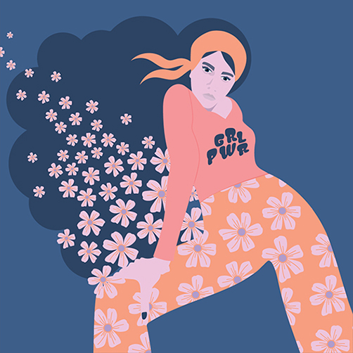 Vector-Portrait-flowerpants-70s-vibe