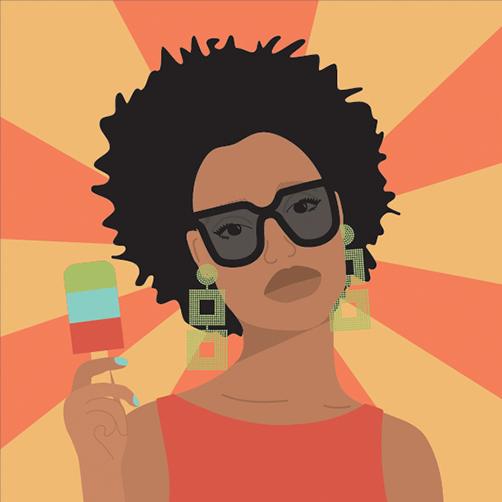 Vector-Portrait-summer-afro-earrings