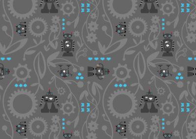 Pattern: Robot Gear Garden
